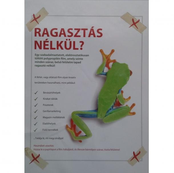 Elektrosztatikus plakát