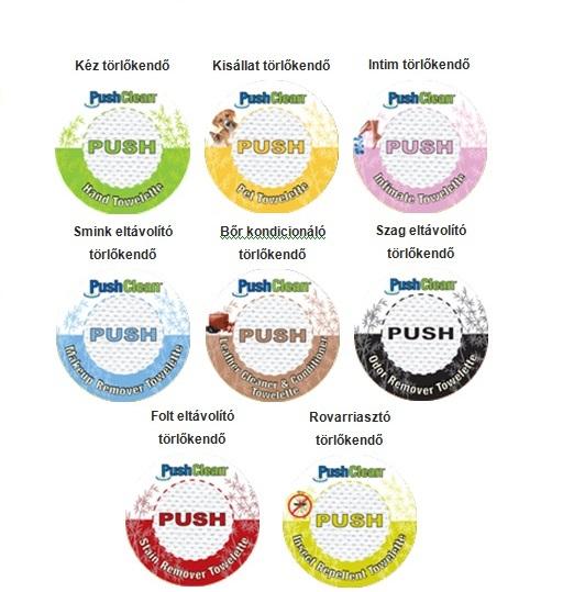 PushClean™ Törlőkendők promóciós célra